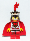 Minifig No: cas511  Name: Kingdoms - Lion King with Plume (Chess King)