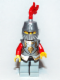 Minifig No: cas514  Name: Kingdoms - Lion Knight Armor, Helmet Closed, Eyebrows and Goatee (Chess Bishop)