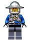 Minifig No: cas520  Name: Castle - King's Knight Breastplate with Crown and Chain Belt, Helmet with Broad Brim, Cheek Lines