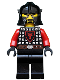 Minifig No: cas522  Name: Castle - Dragon Knight Scale Mail with Dragon Shield, Cheek Protection Helmet, Black Beard