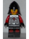 Minifig No: cas529  Name: Castle - Dragon Knight Scale Mail with Dragon Shield and Shoulder Armor, Knee Pads, Helmet with Neck Protector, Angry Scowl