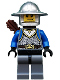 Minifig No: cas531  Name: Castle - King's Knight Scale Mail, Crown Belt, Helmet with Broad Brim, Quiver, Smirk and Stubble Beard