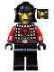 Minifig No: cas537  Name: Castle - Dragon Knight Scale Mail with Dragon Shield, Cheek Protection Helmet, Bushy Eyebrows