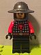 Minifig No: cas541  Name: Castle - Dragon Knight Scale Mail with Dragon Shield, Helmet with Broad Brim