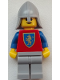 Minifig No: cas542  Name: Crusader Lion - Light Bluish Gray Legs, Light Bluish Gray Neck-Protector (Reissue)