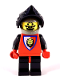 Minifig No: cas551  Name: Royal Knights - Dark Gray Helmet with Black Visor, Lion Crest