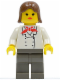 Minifig No: cc4455  Name: Soccer Hotdog Girl (Coca-Cola)