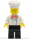 Minifig No: chef002  Name: Chef - Black Legs, Standard Grin
