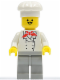 Minifig No: chef005  Name: Chef - Light Gray Legs, Moustache