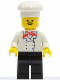 Minifig No: chef007  Name: Chef - Black Legs, Moustache