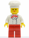 Minifig No: chef008  Name: Chef - Red Legs, Female
