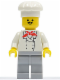 Minifig No: chef011  Name: Chef - Light Bluish Gray Legs, Moustache