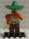 Minifig No: col017b  Name: Mariachi / Maraca Man with all Accessories and Stand