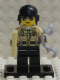 Minifig No: col022b  Name: Traffic Cop with all Accessories and Stand