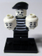 Minifig No: col025b  Name: Mime with all Accessories and Stand