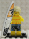 Minifig No: col031b  Name: Surfer with all Accessories and Stand