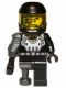 Minifig No: col038  Name: Space Villain - Pearl Dark Gray Pirate Peg Leg - Minifigure only Entry