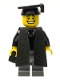 Minifig No: col065  Name: Graduate - Minifig only Entry