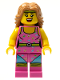 Minifig No: col074  Name: Fitness Instructor - Minifig only Entry