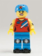 Minifig No: col136  Name: Roller Derby Girl - Minifig only Entry