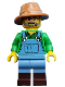Minifig No: col228  Name: Farmer - Minifigure only Entry