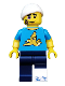 Minifig No: col231  Name: Clumsy Guy - Minifigure only Entry