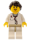 Minifig No: col284  Name: Doctor - Lab Coat Stethoscope and Thermometer, White Legs with Tan Hips, Long French Braided Female Hair (5002146)