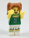 Minifig No: col306  Name: Green Cheerleader