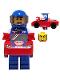 Minifig No: col324  Name: Race Car Guy