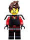 Minifig No: coltlnm01  Name: Kai Kendo with Hair - Minifig Only Entry, no stand, no accessories
