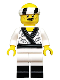 Minifig No: coltlnm19  Name: Sushi Chef - Minifig Only Entry, no stand, no accessories