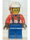 Minifig No: con003  Name: Construction Worker - Orange Shirt, White Construction Helmet