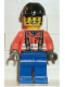 Minifig No: con006  Name: Construction Worker - Orange Shirt, Black Construction Helmet
