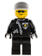 Minifig No: cop006  Name: Police - Zipper with Sheriff Star, White Cap