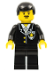 Minifig No: cop011  Name: Police - Suit with Sheriff Star, Black Legs, Black Male Hair