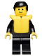 Minifig No: cop016  Name: Police - Suit with 4 Buttons, Black Legs, Black Male Hair, Life Jacket