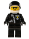 Minifig No: cop019  Name: Police - Zipper with Sheriff Star, White Helmet, Black Visor