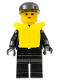 Minifig No: cop031  Name: Police - Zipper with Sheriff Star, Black Cap, Life Jacket