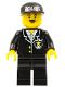Minifig No: cop034  Name: Police - Suit with Sheriff Star, Black Legs, Black Cap with Police Pattern