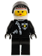 Minifig No: cop040  Name: Police - Zipper with Sheriff Star, White Helmet with Police Pattern, Black Visor, Female