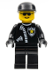 Minifig No: cop041  Name: Police - Zipper with Sheriff Star, Black Cap, Black Sunglasses