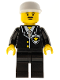 Minifig No: cop051  Name: Police - Suit with Sheriff Star, Black Legs, White Cap