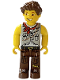 Minifig No: cre002  Name: Jake, Light Gray Torso, Brown Legs