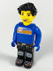 Minifig No: cre003  Name: Max, Blue Torso, Black Legs