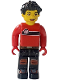 Minifig No: cre011  Name: Max, Red Torso, Black Legs