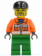 Minifig No: cty0049  Name: Sanitary Engineer 2 - Green Legs, Glasses and Beard