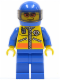 Minifig No: cty0063  Name: Coast Guard City - Motorcyclist