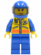 Minifig No: cty0072  Name: Coast Guard City - Helicopter Pilot 2
