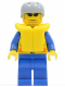 Minifig No: cty0074  Name: Coast Guard City - Kayaker