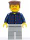 Minifig No: cty0082  Name: Plaid Button Shirt, Light Bluish Gray Legs, Bushy Moustache